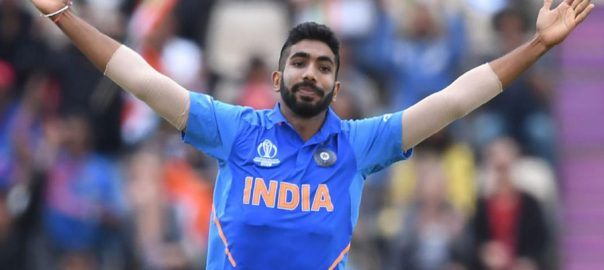 Bumrah Bishop Bishop action India ICC World Cup CWC 2019