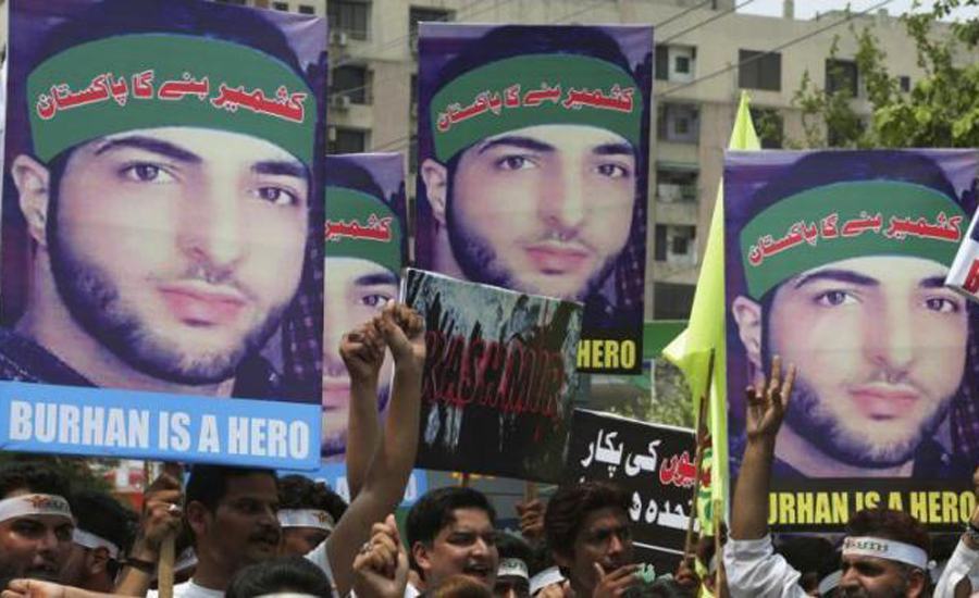 Burhan Wani's 3rd martyrdom anniversary observed on both sides of LoC