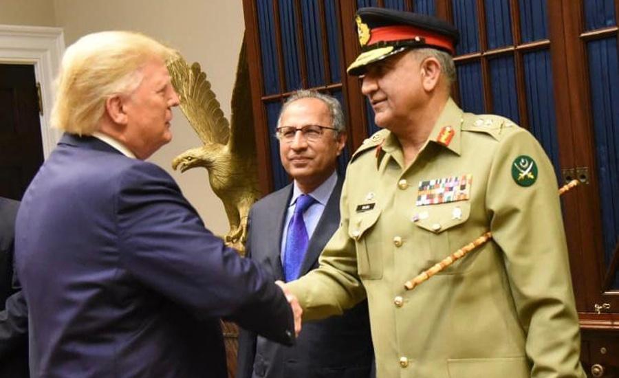 COAS General Qamar Bajwa, US President Trump discuss security in region