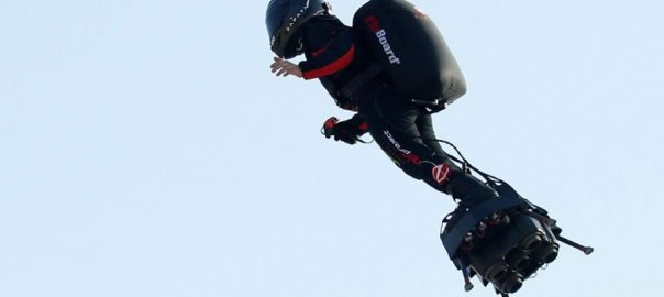 Flying Flyingboard hoverboard frenchman channel channel scuppered fuel mishap