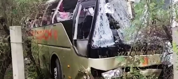 Hassan Abdal passenger bus accident Hassan abdal accident