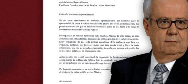 Mexican FM, quits, letter