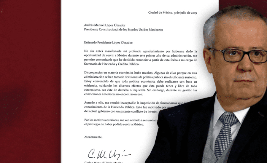 Mexican finance minister Carlos Urzúa quits with critical letter