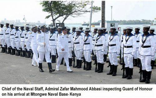 CNS, Admiral, Zafar Abbasi, Commander, Kenya Navy, naval, institutions