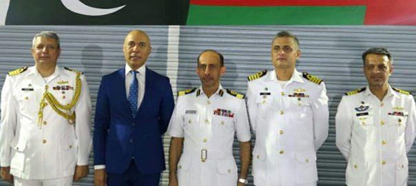 Pak Navy, Ship, Shahjahan, Oman port, regional, maritime, security