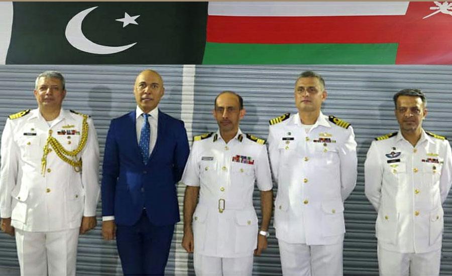 Pak Navy Ship Shahjahan visits Oman port as part of maritime security
