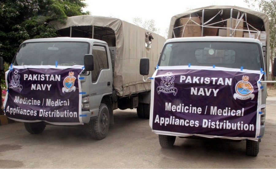Pak Navy contributes medical supplies worth Rs3 million to Uthal DHQ Hospital