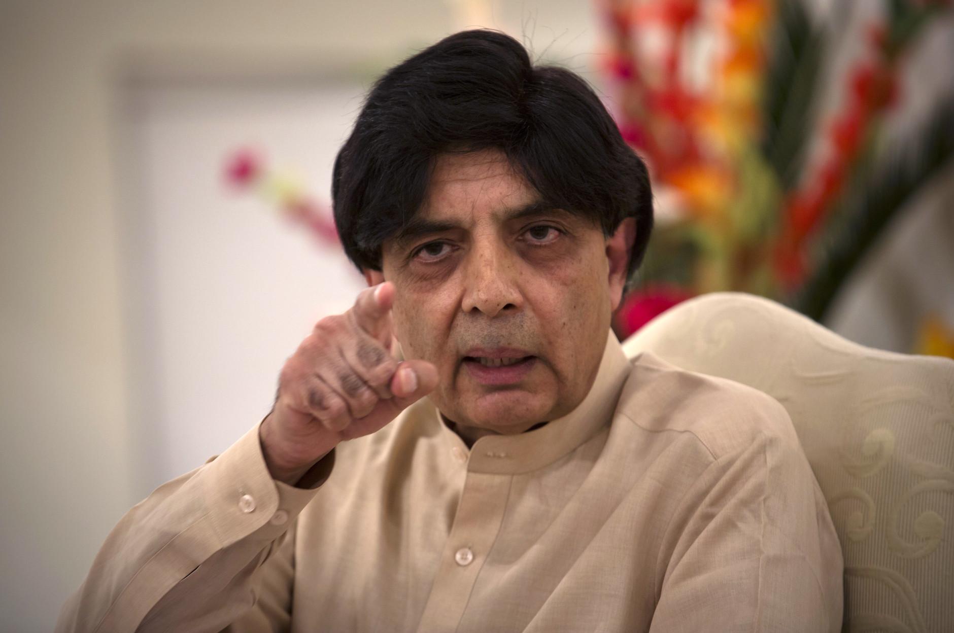 Chaudhry Nisar hospitalized after cardiac problem