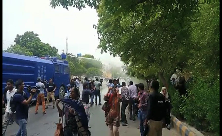 Karachi faceoff: Police clash with nurses, baton-charge protesters