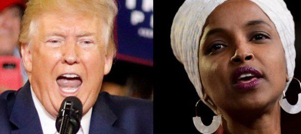 Ilhan Omar Donald Trump Congress women democratic White House