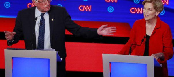 Sanders Warren progressive progressive policies US US democratic debate