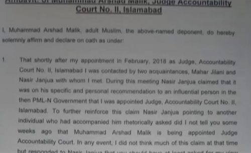 blackmailed  bribes  Nawaz Sharif  Judge Arshad malik  nawaz Sharif