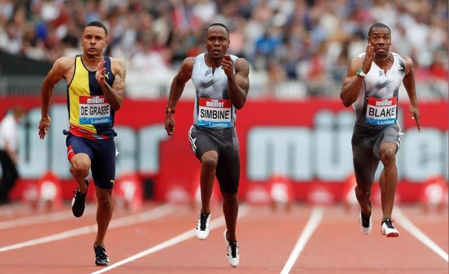 Athletics: Simbine takes London 100m honours
