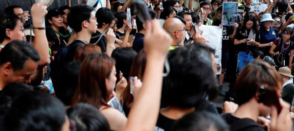 Hong kong escalate fight extradition protestors