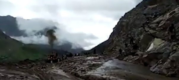 Kaghan kaghan tourists road blocked rescue operation flood alert