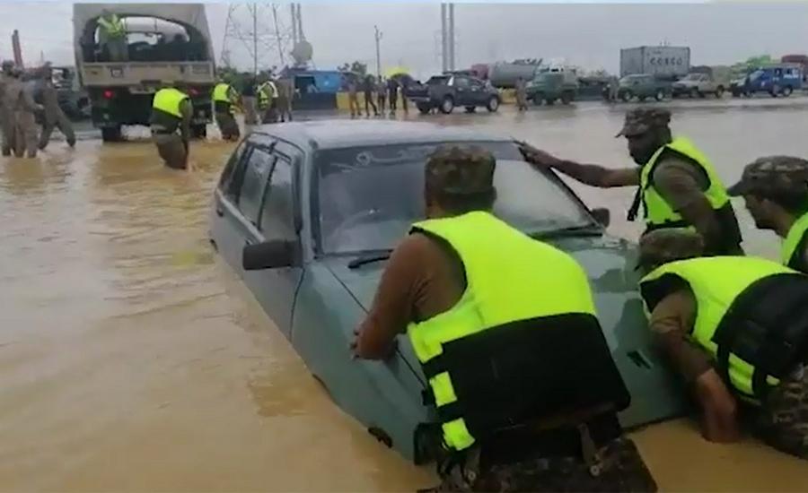 Nine more die as incessant rain wreaks havoc in Karachi, adjoining areas