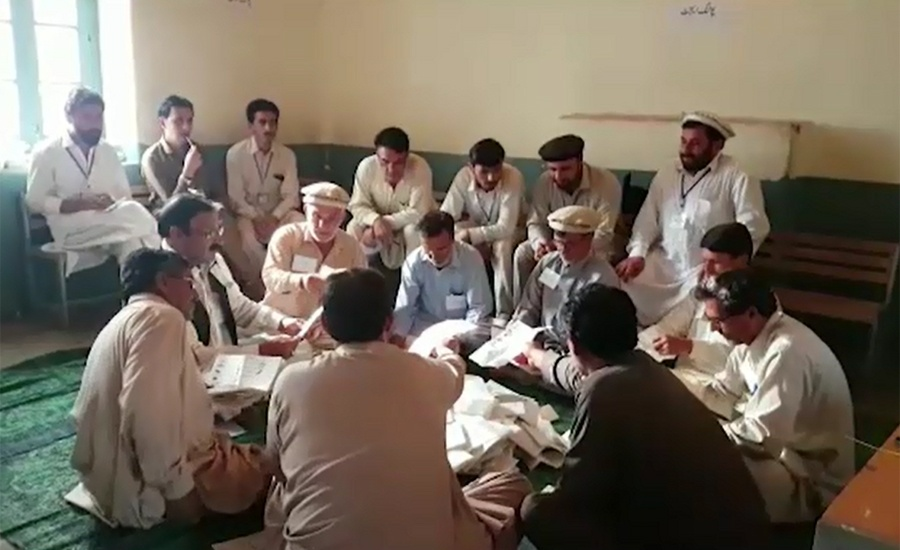 Votes count underway in 16 constituencies of tribal areas