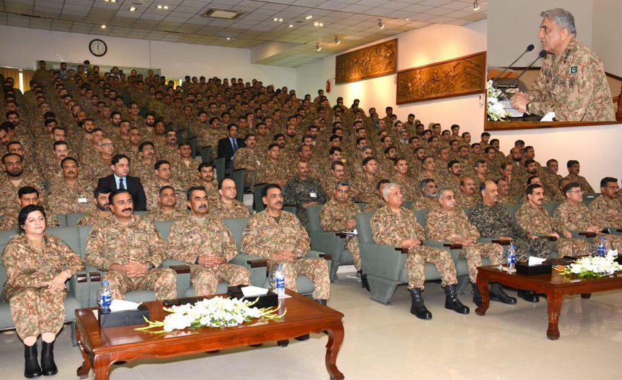 COAS Qamar Bajwa visits Headquarters Lahore Corps, briefed on border situation