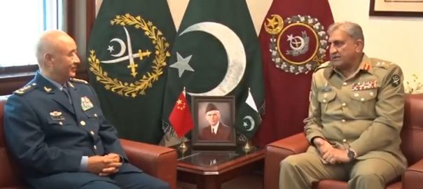 COAS, Gen Qamar Bajwa, Chinese, General Xu Qiliang, discuss, avenues, enhance, defence, collaboration, IOK situation