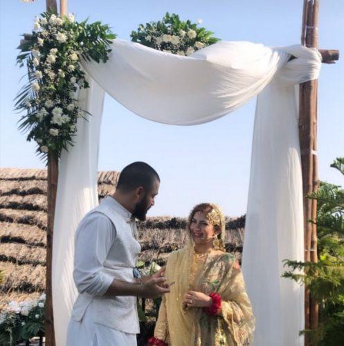 Hamza Abbasi  Naimal Khawar  Wedding ceremony