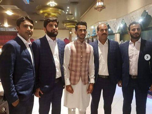 Imad Wasim  hasan Ali  wedding  tie the knot  Sania Ashfaq