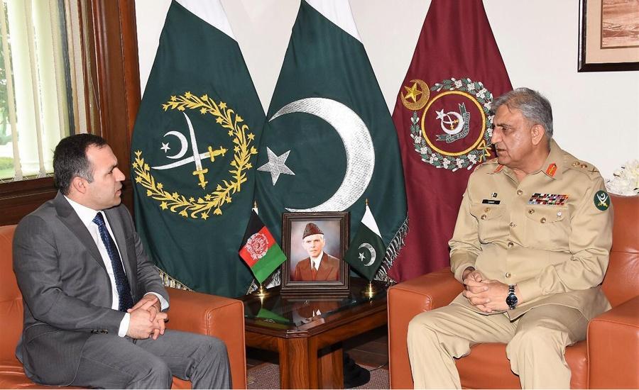 Afghan ambassador, COAS Qamar Bajwa discuss regional security