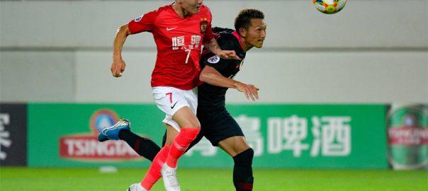 Soccer, Asian champions, Kashima, 0-0 draw, Guangzhou