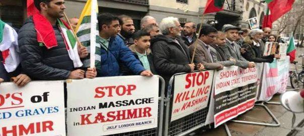 Kashmiris-protest