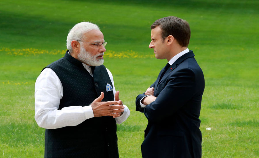 Macron will take up Kashmir with Modi on the sidelines of G-7 summit