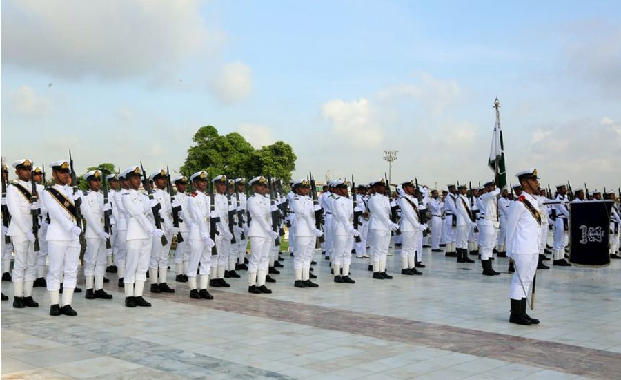 President Arif Alvi confers military awards on Pak Navy officers