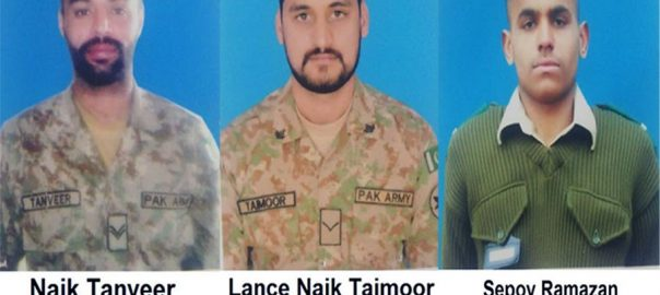 Pakistani soldiers martyred Indian firing LoC Line of Control