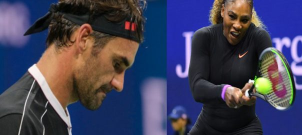 Federer US Open Serena Sharapova