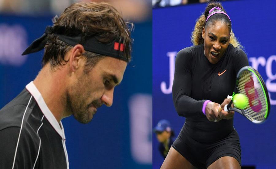 Federer progresses in US Open as Serena overpowers Sharapova