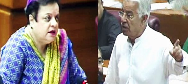 territory held territory khawaja asif shireen mizari PMl-N joint parliament session