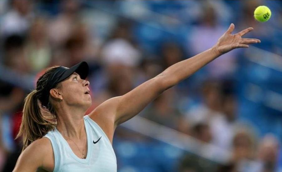 Tennis: Sharapova win sets up Barty battle in Cincinnati