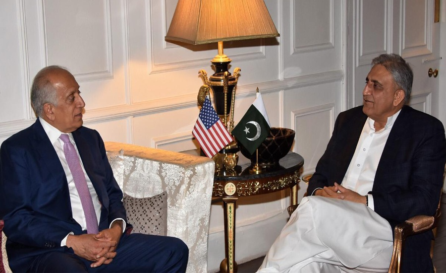 COAS Qamar Bajwa, US envoy Zalmay Khalilzad discuss Afghan peace process