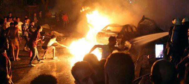 explosion car explosion cairo central cairo