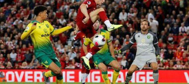 goal liverpool premier league norwich hanley salah