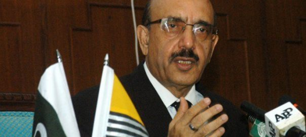 AJK president Masood Khan Kashmir valley Indian authorites Article 370 35A Indian held jammu kashmir occupied kashmir