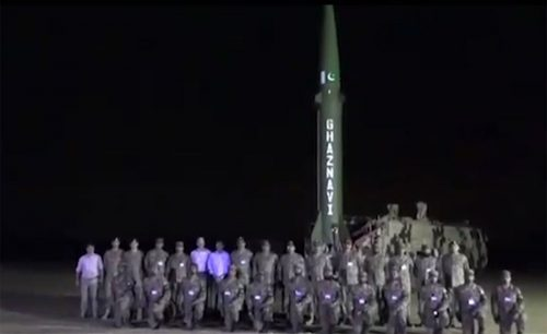 Pakistan, successfully, conducts, night training launch, surface-to-surface, ballistic, missile, Ghaznavi