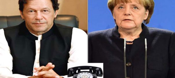 PM, Imran Khan, phones, German chancellor, informs, Indian illegal act