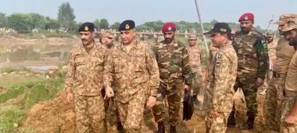 COAS, Qamar, Bajwa, visits, earthquake, affected, areas, AJ&K