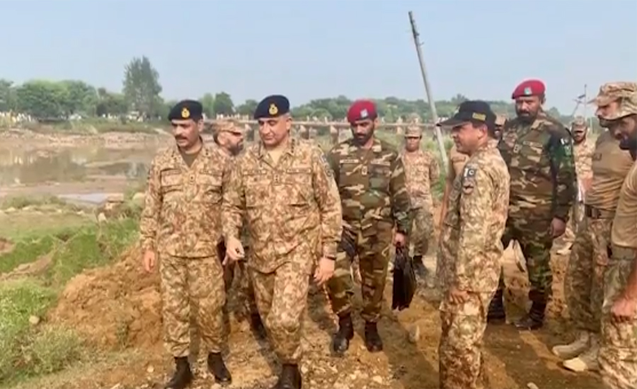 COAS Qamar Bajwa visits earthquake affected areas of AJ&K