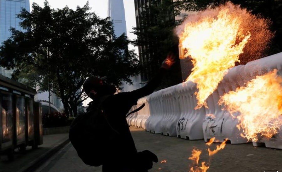 Hong Kong Hong Kong reopens violent weekend of protests