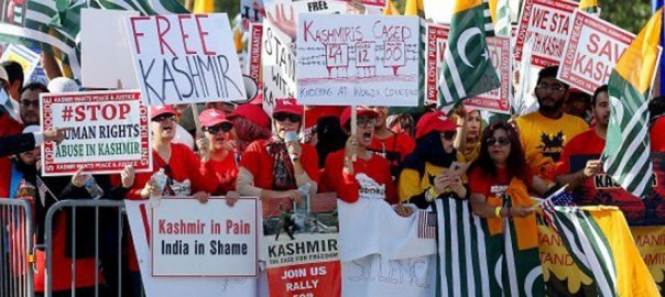 slogans Houstan houstan rally houstan protest modi modi is terrorist Free Kashmir Go Back Modi