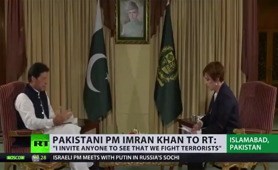 PM Imran Khan asks world powers to play role to resolve Kashmir issue