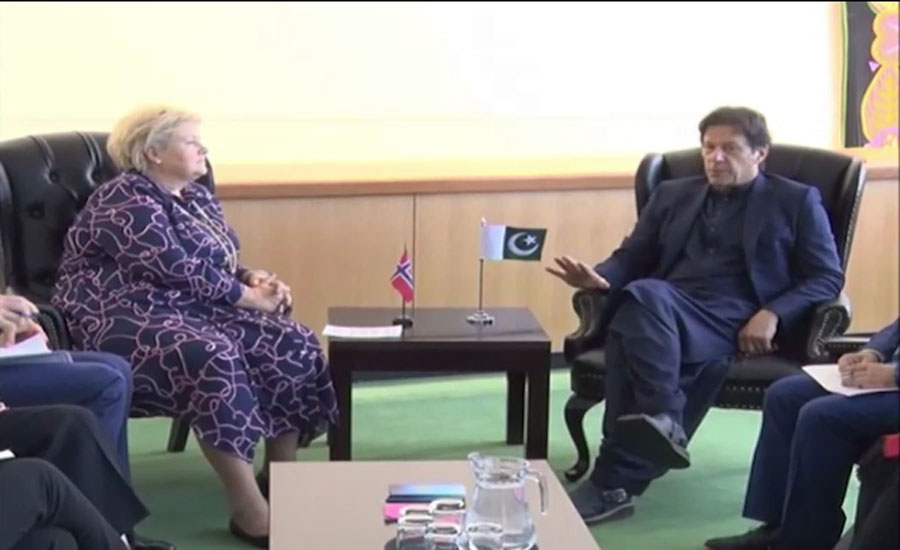 PM Imran meets Norwegian counterpart, Bill Gates and HRW's Roth
