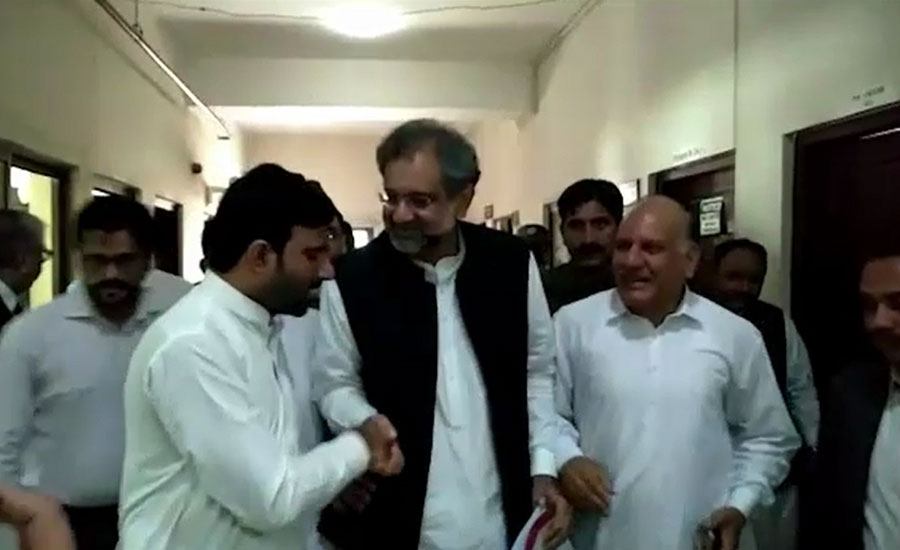 Physical remand of Khaqan Abbasi extended for 14-days