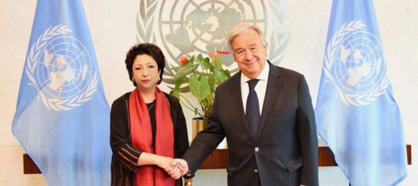 Maleeha Maleeha Lodhi Pakistani ambassador UN chief UN Secretary-General Antonio Guterres lockdown curfew Indian occupied kashmir IoK