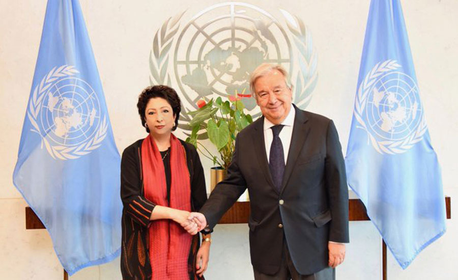 Maleeha urges UN chief to raise voice for HRs violation in IoK